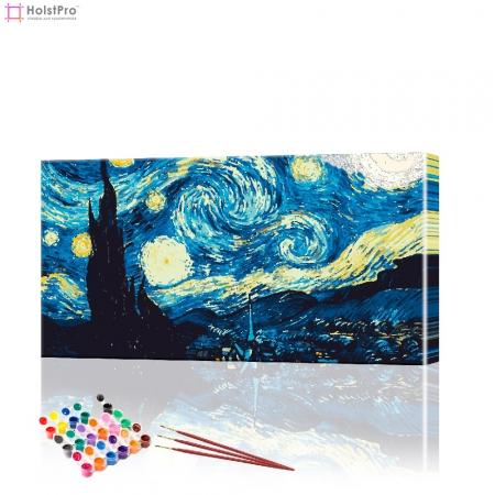 "Картина по номерам ""Ночное небо Ван Гог"" PBN0249, размер 40х70 см"