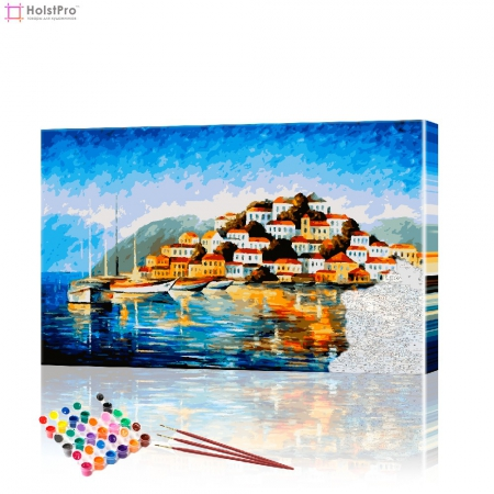 """Картина по номерам """"Залив"""" PBN0266, размер 40х70 см"""