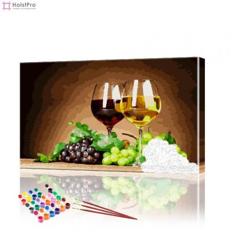 "Картина по номерам ""Бокалы с вином"" PBN0399, размер 40х70 см"