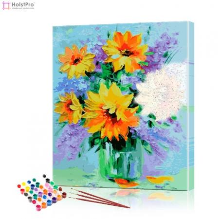 "Картина по номерам ""Букет подсолнухов"" PBN0015, размер 30х40 см"