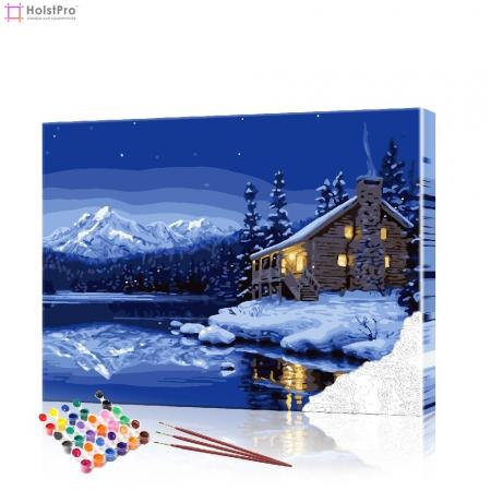 """Картина по номерам """"Зимний пейзаж"""" PBN0406, размер 40х50 см"""