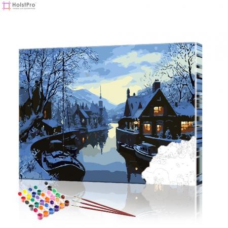 """Картина по номерам """"Зимний пейзаж"""" PBN0408, размер 40х50 см"""