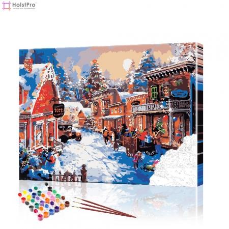 """Картина по номерам """"Рождественский пейзаж"""" PBN0410, размер 40х50 см"""