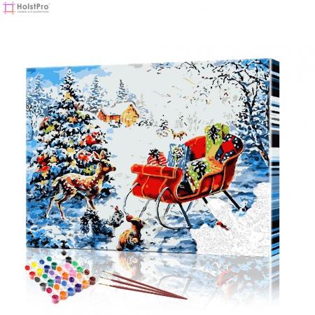 "Картина по номерам ""Сани Санта Клауса"" PBN0412, размер 40х50 см"