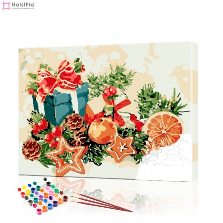 "Картина по номерам ""Новогодний натюрморт"" PBN0416, размер 40х50 см"