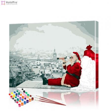 "Картина по номерам ""Санта Клаус"" PBN0430, размер 40х50 см"