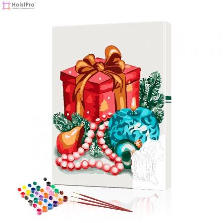 """Картина по номерам """"Новогодний подарок"""" PBN0432, размер 40х60 см"""