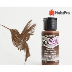 Краска для ткани, SoSoft, DecoArt (29мл), акриловая, Коричневая