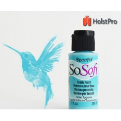 Краска для ткани, SoSoft, DecoArt (29мл), акриловая, Бирюзова