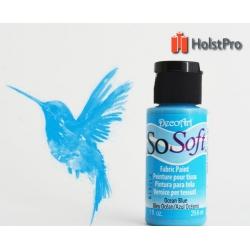 Краска для ткани, SoSoft, DecoArt (29мл), акриловая, Голубая