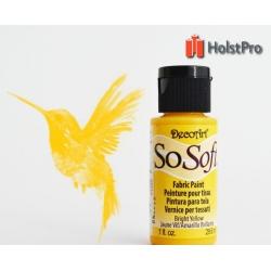 Краска для ткани, SoSoft, DecoArt (29мл), акриловая, Желтая средняя