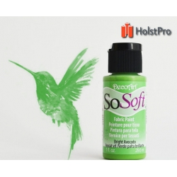 Краска для ткани, SoSoft, DecoArt (29мл), акриловая, Зеленая светлая