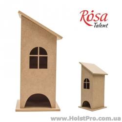 Заготовки для декупажа, Чайный дом, скошенная крыша, МДФ, 10х10х26см