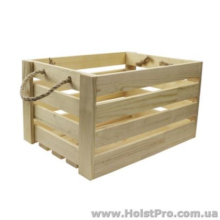 Заготовки для декупажа, Ящик квадратный, 23х23х21см, сосна