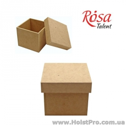 Заготовка для декора, Коробка с крышкой, МДФ, 15х15х13см