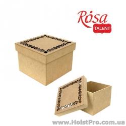 Заготовка для декора, Коробка с фигурной крышкой 1, МДФ, 20х20х15 см