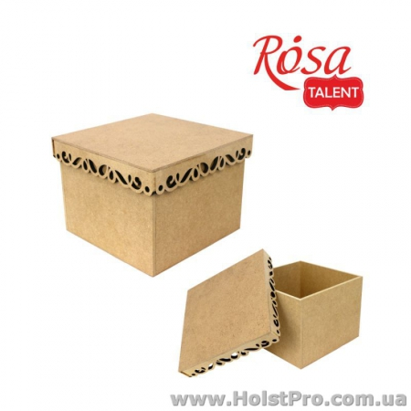 Заготовки для декупажа, Коробка с фигурной крышкой 2, МДФ, 20х20х15 см