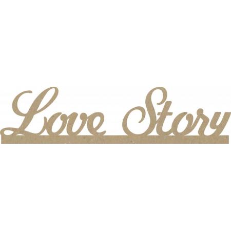 "Заготовки для декупажа, надпись ""Love story"", МДФ, 40х9см"