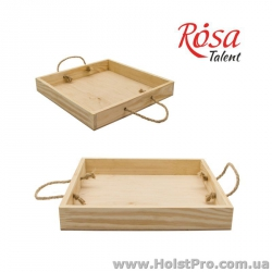 Заготовки для декупажа, Поднос деревянный, 30х30х4см