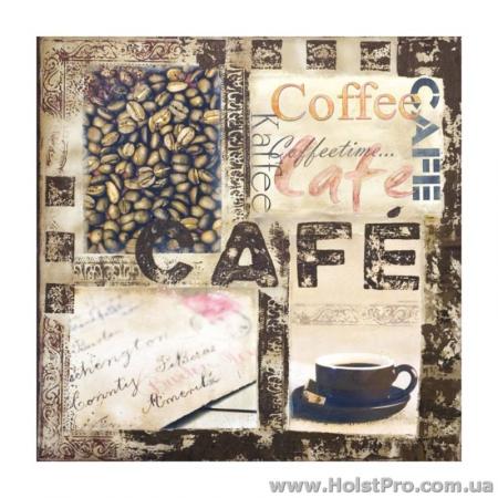 """Салфетки для декупажа, """"Coffee"""", 33*33 см, 18,5 г/м2, 20 шт"""