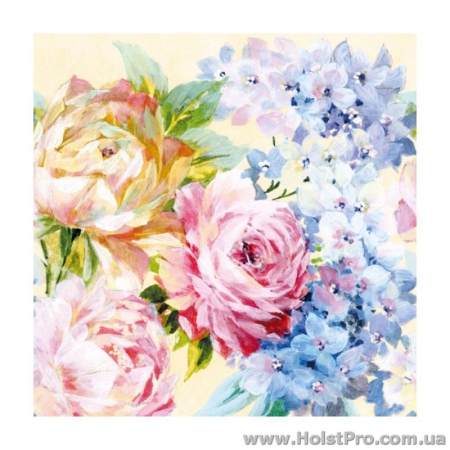 "Салфетки для декупажа, ""Flowers"", 33*33 см, 18,5 г/м2, 20 шт, Abiente"