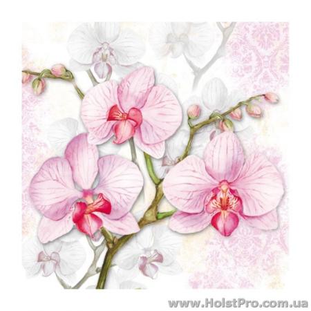 """Салфетки для декупажа, """"Орхидея"""", 33*33 см, 18,5 г/м2, 20 шт"""
