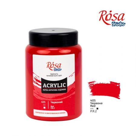 Краска акриловая, Красная, 400 мл, ROSA Studio