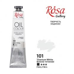 Краска масляная, Белила титановые, 45мл, ROSA Gallery
