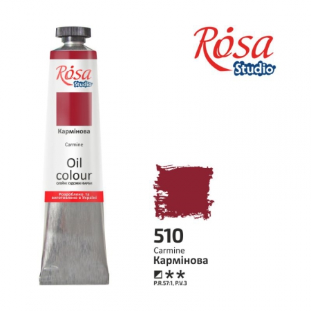 Краска масляная, Кармин 60мл, ROSA Studio