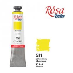Краска масляная, Лимонная 60мл, ROSA Studio