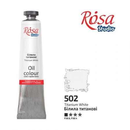 Краска масляная, Белила титановые 60мл, ROSA Studio
