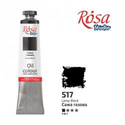 Краска масляная, Сажа газовая 60мл, ROSA Studio