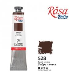 Краска масляная, Умбра жженая 60мл, ROSA Studio