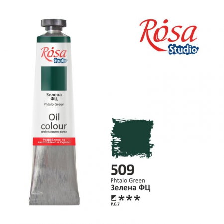 Краска масляная, Зеленый ФЦ 60мл, ROSA Studio