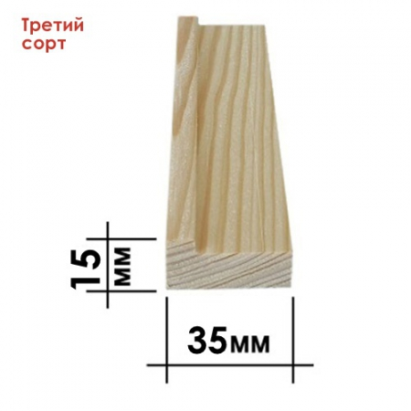 Подрамник для холста 15 х 35 мм, Третий сорт