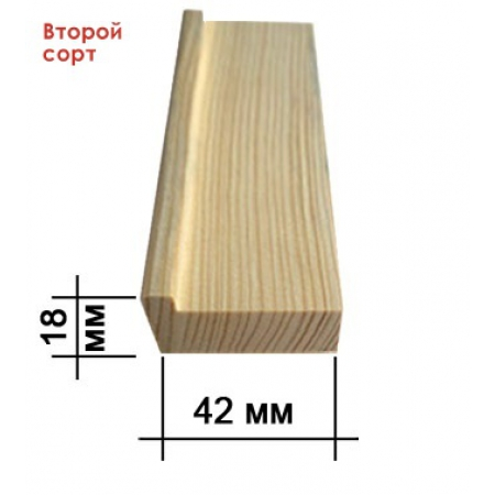 Подрамник для холста 18 х 42 мм (standart), второй (II) сорт