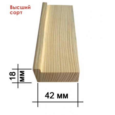 Подрамник для холста 18 х 42 мм (standart), высший сорт