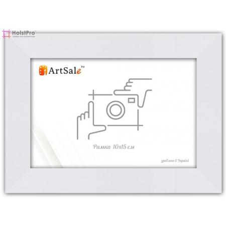 Рамка для фото 10 х 15 см белая плоская